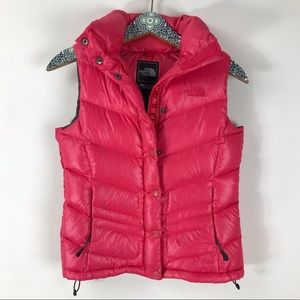THE NORTH FACE 700 Goose Down Pink Puffer Vest XS